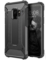 Samsung Galaxy S9 Hoesje Shock Proof Hybride Backcover Zwart