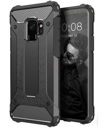 Samsung Galaxy S9 Hoesje Shock Proof Hybride Backcover Zwart