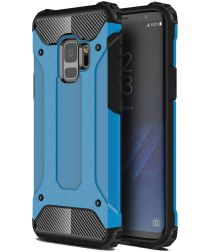 Samsung Galaxy S9 Hoesje Shock Proof Hybride Backcover Blauw