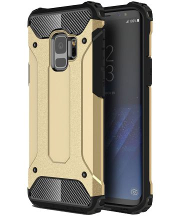 Samsung Galaxy S9 Hoesje Shock Proof Hybride Backcover Goud