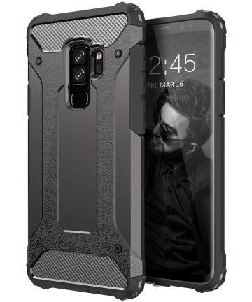 Samsung Galaxy S9 Plus Hoesje Shock Proof Hybride Back Cover Zwart Hoesjes