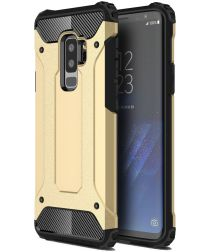 Samsung Galaxy S9 Plus Hoesje Shock Proof Hybride Back Cover Goud