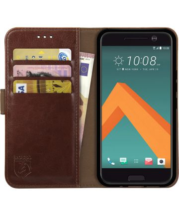 Rosso Element HTC 10 Hoesje Book Cover Bruin