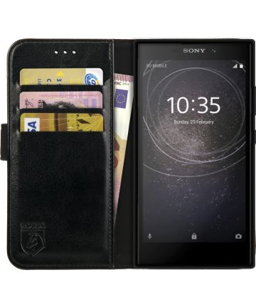 Rosso Element Sony Xperia L2 Hoesje Book Cover Zwart