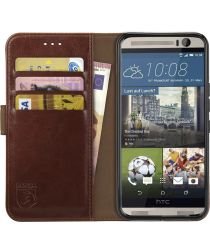 Rosso Element HTC One M9 Hoesje Book Cover Bruin