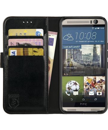 Rosso Element HTC One M9 Hoesje Book Cover Zwart