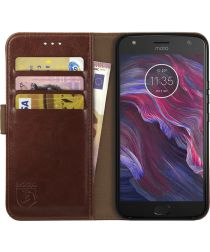 Rosso Element Motorola Moto X4 Hoesje Book Cover Bruin