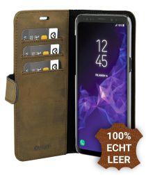 Valenta Galaxy S9 Plus Classic Hoesje Leer Book Case Vintage Bruin