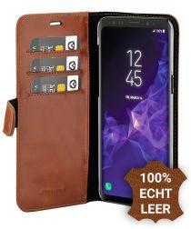 Valenta Galaxy S9 Classic Hoesje Echt Leer Book Case Bruin