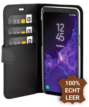 Valenta Galaxy S9 Classic Hoesje Echt Leer Book Case Zwart