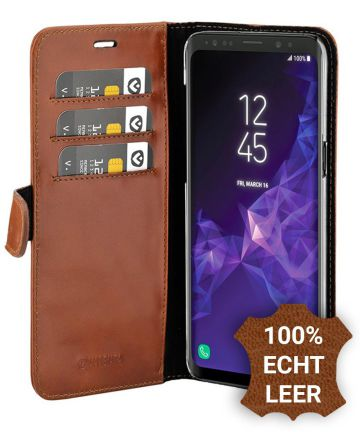 Valenta Galaxy A8 2018 Classic Hoesje Leer Book Case Bruin