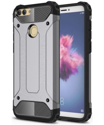 Huawei P Smart Hybride Hoesje Grijs Hoesjes