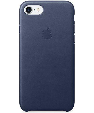 Originele Apple iPhone 8 / 7 Leather Case Midnight Blue