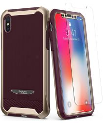 Spigen Reventon Hoesje Apple iPhone X Metallic Gold