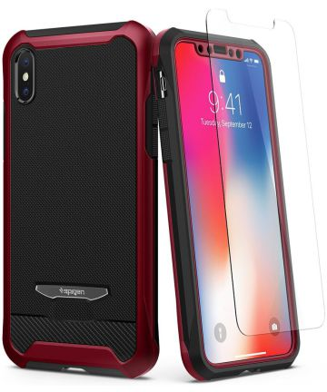 Spigen Reventon Hoesje Apple iPhone X Metallic Red