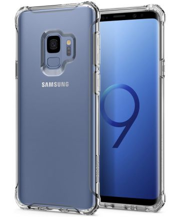 Spigen Rugged Crystal Hoesje Samsung Galaxy S9 Transparant