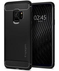 Spigen Rugged Armor Hoesje Samsung Galaxy S9 Matte Black