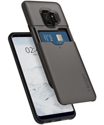 Spigen Slim Armor Hoesje met Kaarthouder Samsung Galaxy S9 Gunmetal