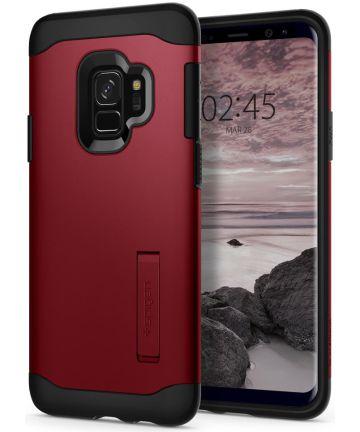 Spigen Slim Armor Hoesje met Standaard Samsung Galaxy S9 Red
