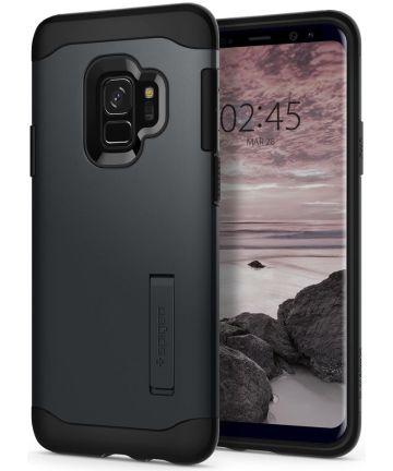 Spigen Slim Armor Hoesje Samsung Galaxy S9 Metal Slate