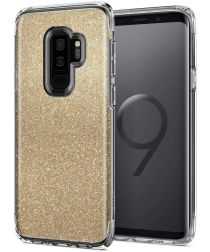 Spigen Slim Armor Hoesje Samsung Galaxy S9 Crystal Glitter Gold Quartz