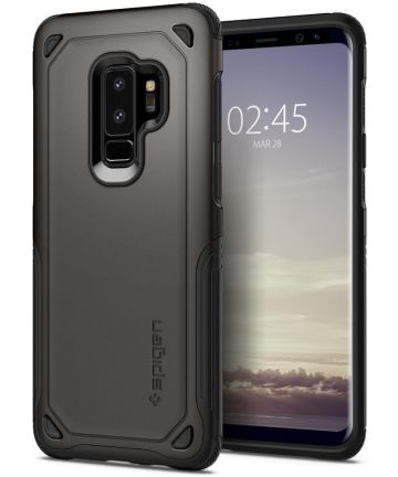 Spigen Hybrid Armor Hoesje Samsung Galaxy S9 Plus Gunmetal Hoesjes
