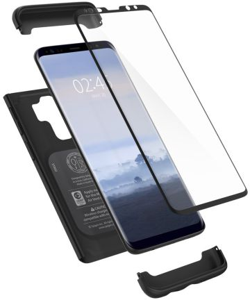 Spigen Thin Fit 360 Case Samsung Galaxy S9 Plus Black Hoesjes
