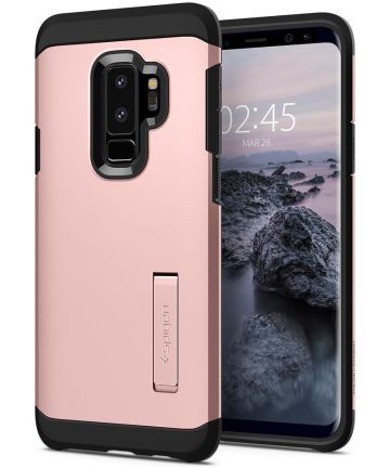 Spigen Tough Armor Hoesje Samsung Galaxy S9 Plus Rose Gold