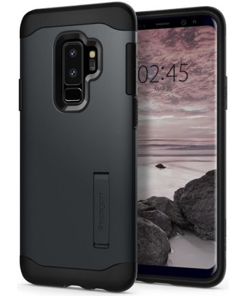 Spigen Slim Armor Case Samsung Galaxy S9 Plus Metal Slate