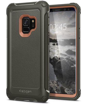 Spigen Pro Guard Hoesje Samsung Galaxy S9 Army Green