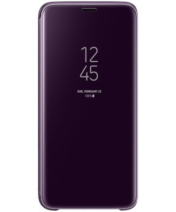 Samsung Galaxy S9 Clear View Stand Cover Paars