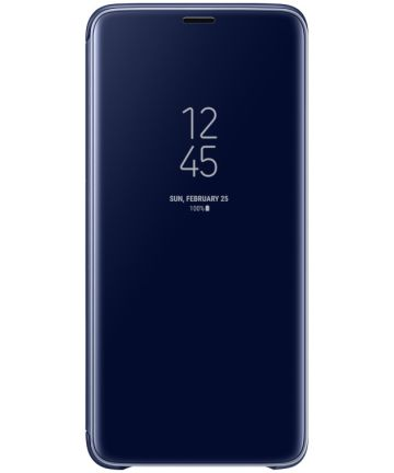 Samsung Galaxy S9 Plus Clear View Stand Cover Blauw