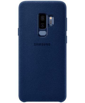 Samsung Galaxy S9 Plus Alcantara Cover Blauw