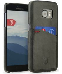 Rosso Select Samsung Galaxy S7 Hoesje Echt Leer Back Cover Zwart