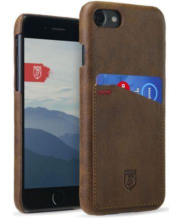 Rosso Select OnePlus 5T Hoesje Echt Leer Back Cover Bruin Hoesjes