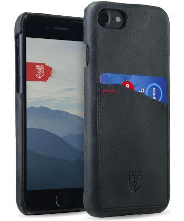 Rosso Select OnePlus 5T Hoesje Echt Leer Back Cover Zwart Hoesjes