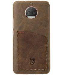 Rosso Select Motorola Moto G5S Hoesje Echt Leer Back Cover Bruin