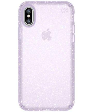 Speck Presidio Glitter Hoesje Apple iPhone X Paars