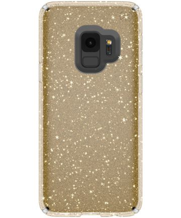 Speck Presidio Glitter Hoesje Samsung Galaxy S9 Transparant Goud