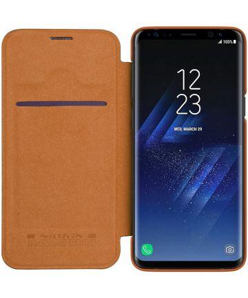 Nillkin Qin Book Samsung Galaxy S9 Hoesje Bruin Hoesjes