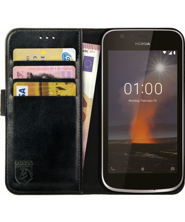 Rosso Element Nokia 1 Hoesje Book Cover Zwart