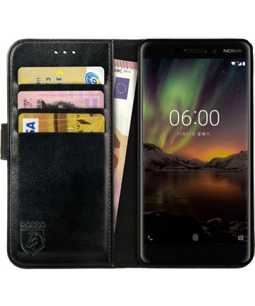 Rosso Element Nokia 6 (2018) Hoesje Book Cover Zwart