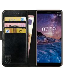 Rosso Element Nokia 7 Plus Hoesje Book Cover Zwart