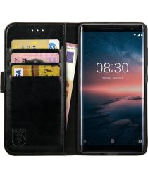 Rosso Element Nokia 8 Sirocco Hoesje Book Cover Zwart
