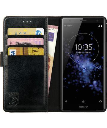 Rosso Element Sony Xperia XZ2 Hoesje Book Cover Zwart Hoesjes