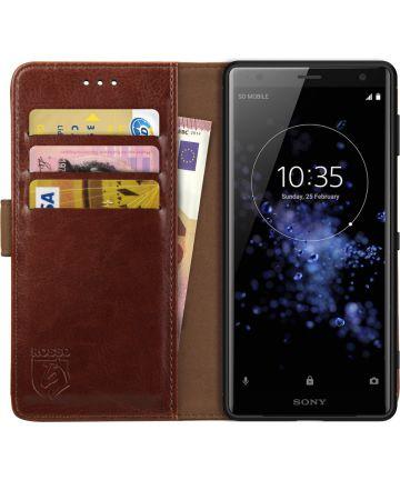 Rosso Element Sony Xperia XZ2 Hoesje Book Cover Bruin