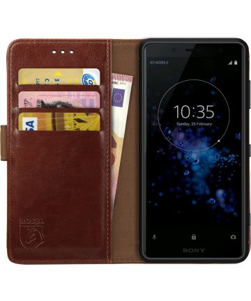 Rosso Element Sony Xperia XZ2 Compact Hoesje Book Cover Bruin Hoesjes