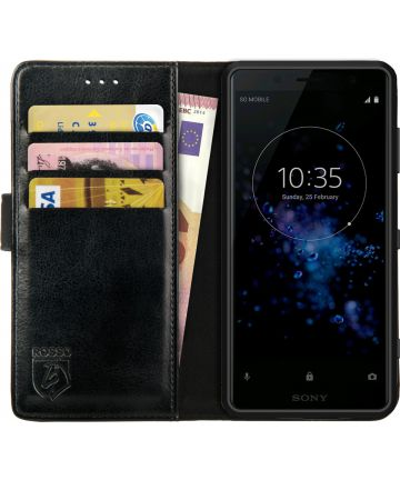 Rosso Element Sony Xperia XZ2 Compact Hoesje Book Cover Zwart