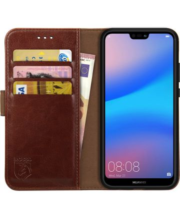 Rosso Element Huawei P20 Lite Hoesje Book Cover Bruin