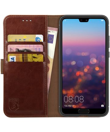 Rosso Element Huawei P20 Pro Hoesje Book Cover Bruin